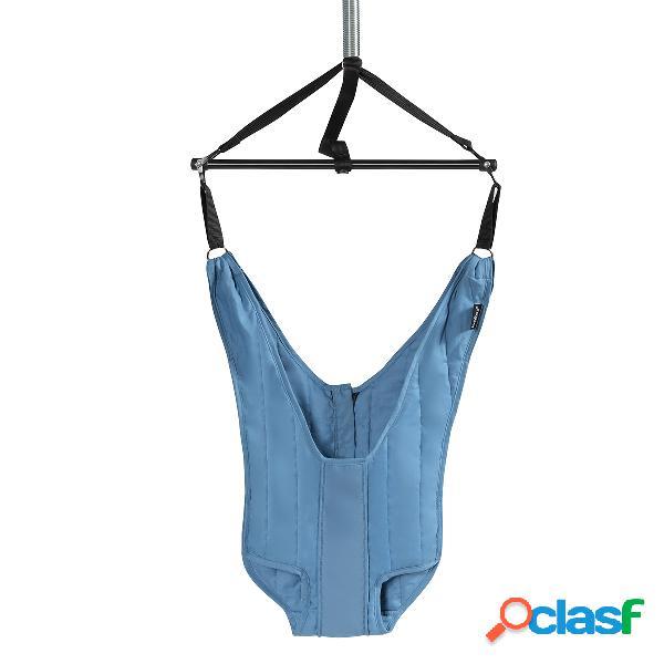 Costway siège sauteur ajustable à suspendre pour bébés de 6 à 12 mois tissus bleu