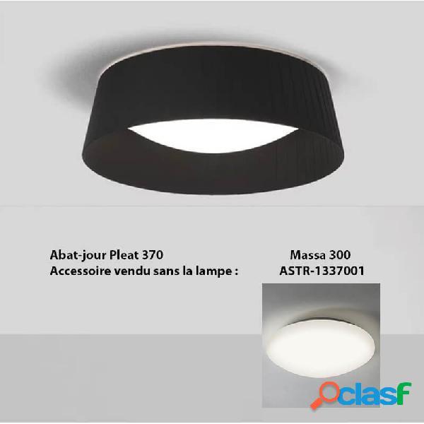 """""""abat jour plissé noir pleat 370 pour plafonnier massa - noir"""""""