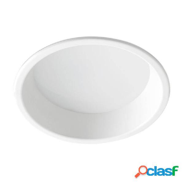 """""""plafonnier encastrable son-2 led lumière chaude d22 cm - blanc"""""""