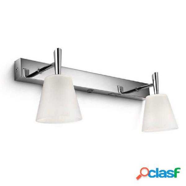 """""""applique verre salle de bain hydrate ip21 l37 cm - chrome"""""""