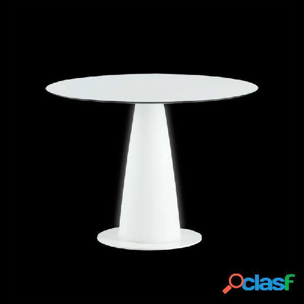 """table ronde lumineuse intérieure hopla d100 h72 cm - blanc"""