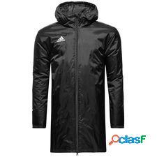 Adidas manteau d'hiver core 18 - noir/blanc