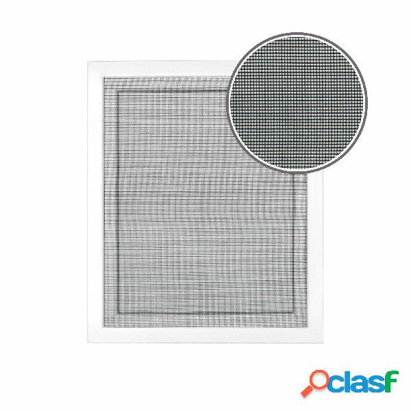Toile de moustiquaire fixation auto-agrippante, noir, 130x150 cm
