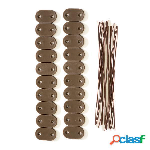 Kit de fixation pour canisses en pvc, brun