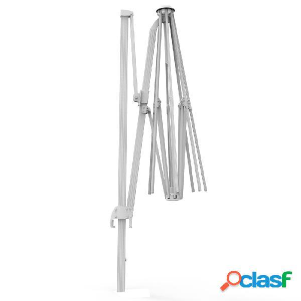 Mât en aluminium pour parasol déporté rond parapenda, 3,5 m, blanc