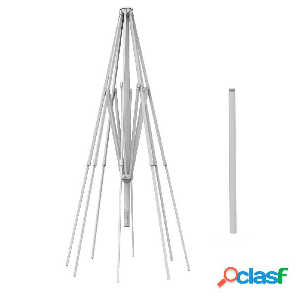 Mât en aluminium pour parasol droit rond paragrandi 5 m, blanc