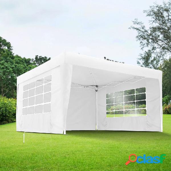 Rideau supplémentaire avec fenêtre pour tonnelle, 295 x 195 cm, blanc