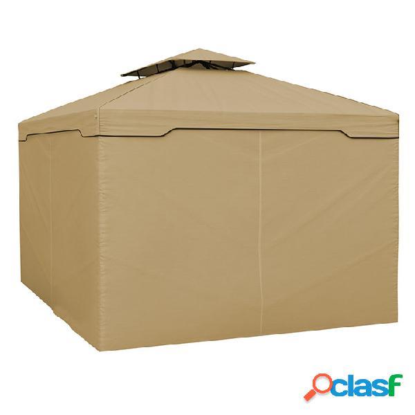 Rideaux supplémentaires pour tonnelle delux, 3x4 m, rideaux standard, beige, 4 pièces