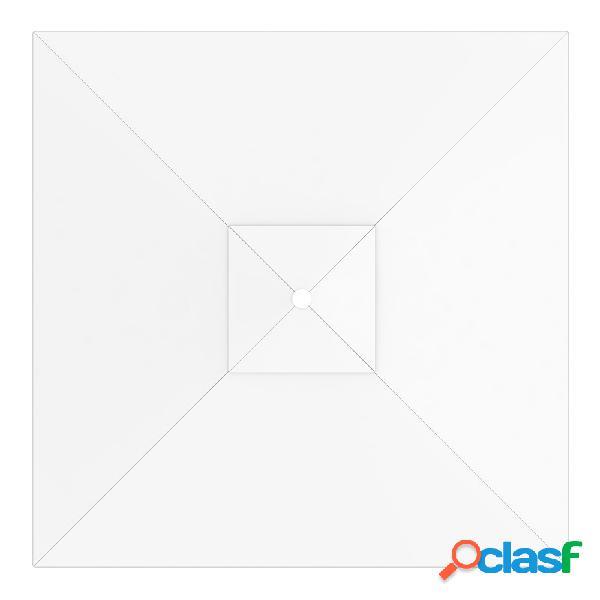 Toile de parasol carrée 3x3 m, interpara, blanc