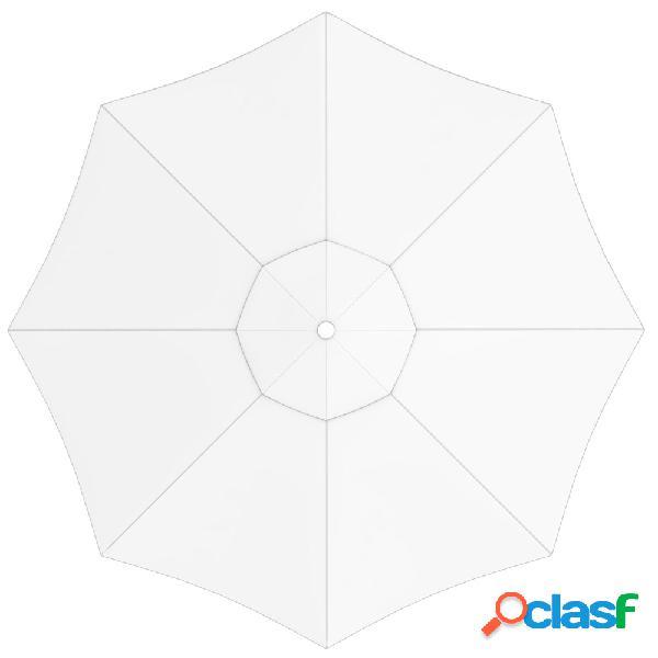 Toile de parasol ronde 3,5 m, interpara, blanc