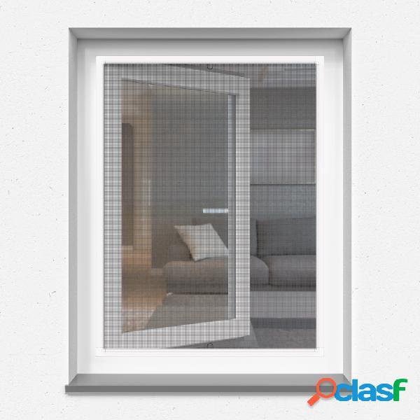 Moustiquaire cadre fixe pour fenêtre, profils en aluminium, sur mesure, 4 types de toile moustiquaire