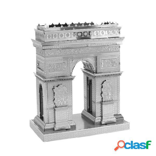 Puzzle 3d en métal - arc de triomphe metal earth - iconx