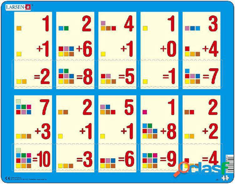 Puzzle cadre - apprendre à compter: l'addition de 1 à 10 larsen