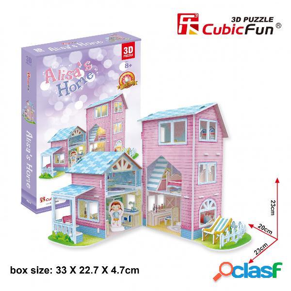 Puzzle 3d - alisa's home cubic fun