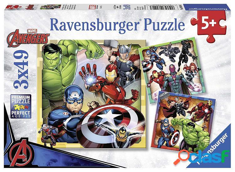 3 puzzles - marvel avengers ravensburger