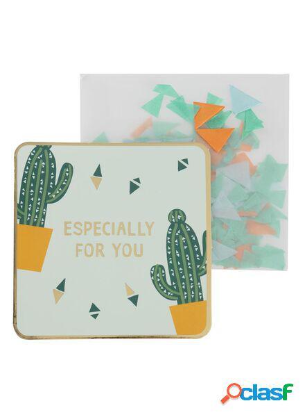 Hema carte de voeux avec confettis