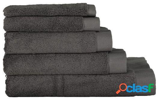Hema serviettes de bain - hôtel extra doux gris foncé (gris foncé)