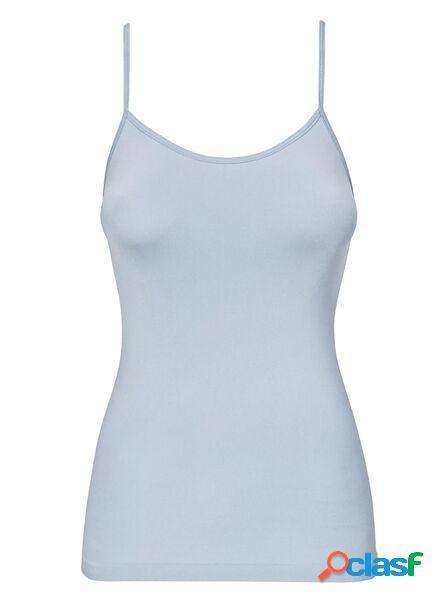 Hema débardeur femme sans coutures en micro bleu clair (bleu clair)