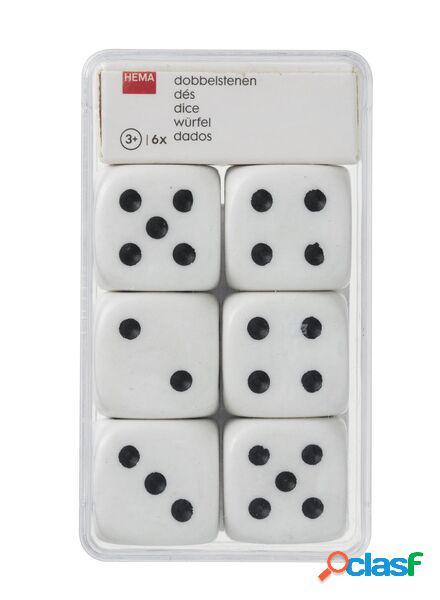 Hema 6 dés (blanc)