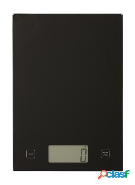 Hema balance de cuisine digitale - 16.5 x 20.5 - noire (noir)