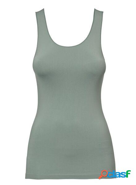 Hema débardeur femme sans coutures en micro vert (vert)