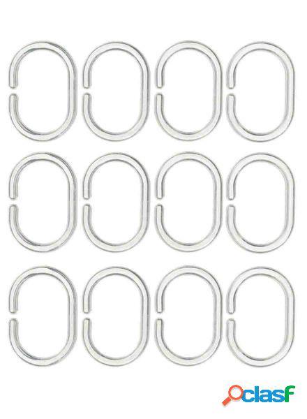 Hema 12 anneaux pour rideau de douche