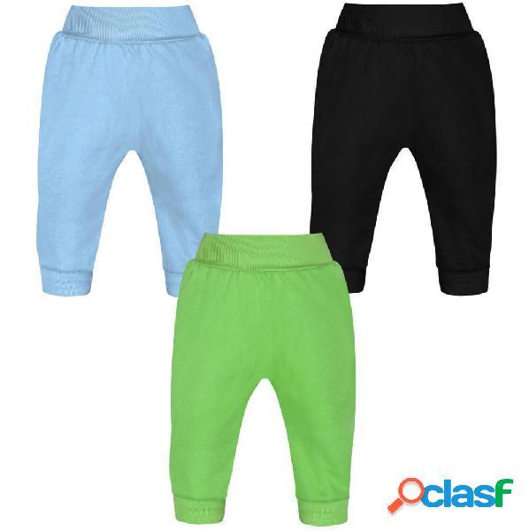 Lot de 3 pantalons bébé garçon (3 couleurs) - 2-9 mois