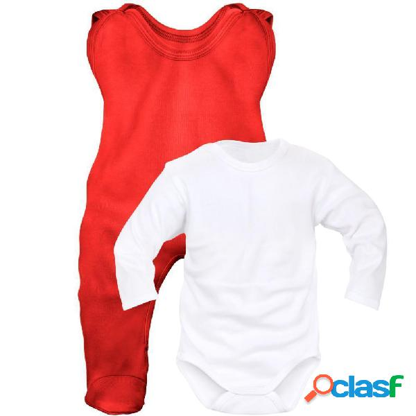 Ensemble bébé fille et garçon (6 couleurs au choix) - rouge-blanc 0-1 mois