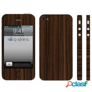 Skin q-skins zebrano pour iphone 4 / 4s