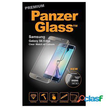 Protecteur d?écran en verre trempé avec cadre panzerglass premium pour samsung galaxy s6 edge - transparent