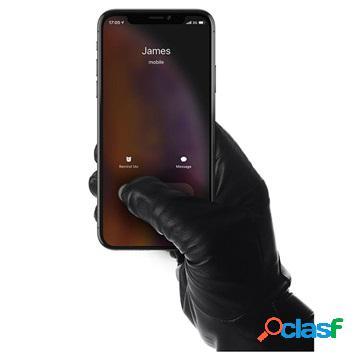 Gants en cuir pour ecran tactile mujjo - m - noirs