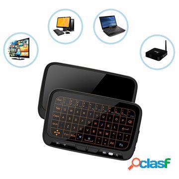Mini clavier sans fil et pavé tactile h18+ - 2.4ghz - noir