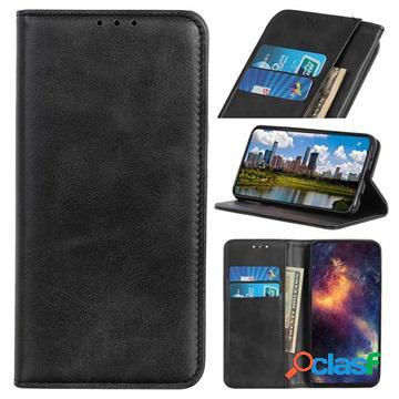 Etui sony xperia 10 plus au design portefeuille premium avec fonction de support - noir