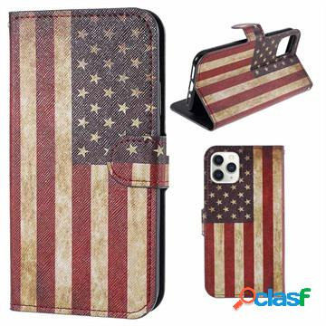 Style series iphone 11 pro max wallet case - vintage american flag