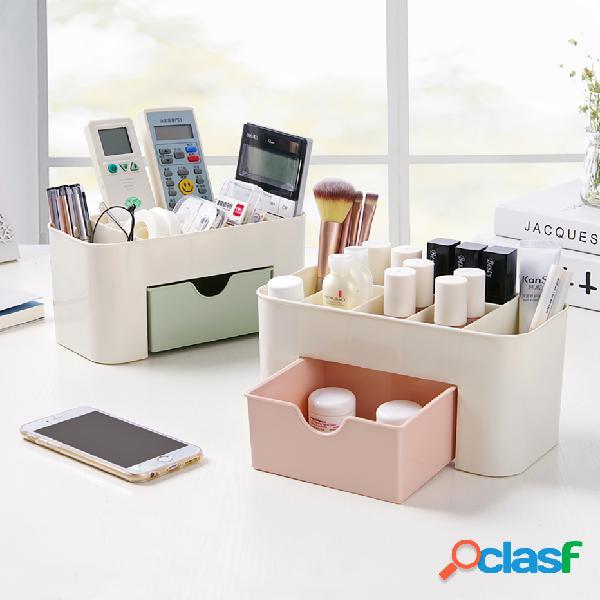Boîte à bijoux cosmétique en plastique multi-fonctionnelle de boîte de rangement avec la petite boîte de rangement de bureau de tiroir