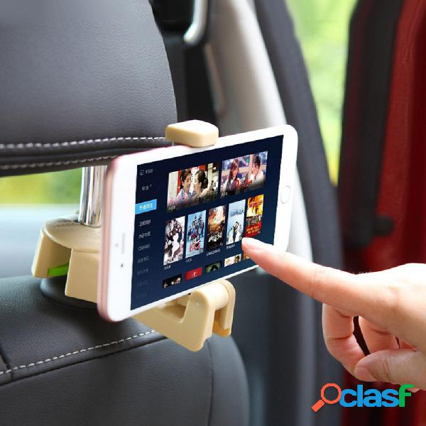 Support de téléphone de siège arrière de voiture abs support de rangement crochet sac sac support en tissu organisateur