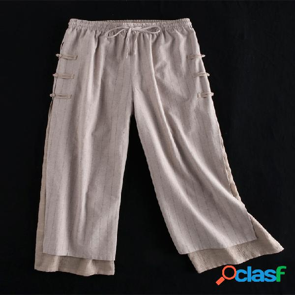 Pantalon grenouille vintage couches taille élastique pantalon taille plus