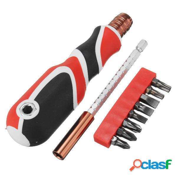 Penggong 8127d 9 in1 multifonction embouts de tournevis à douille télescopique set magnétique outils de réparation