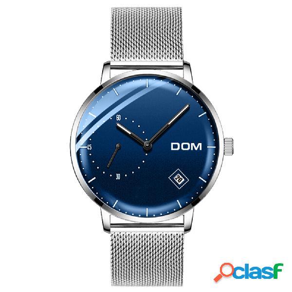 Montre à quartz en acier inoxydable bracelet en acier inoxydable sans date