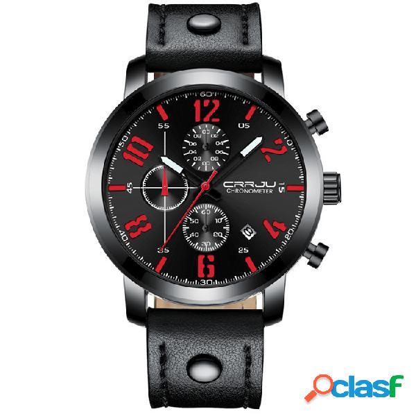 Montre de chronométrage de sport en cuir running men watch multifonction montre de sport pour hommes de quartz