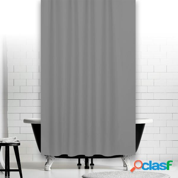 Rideau de douche imperméable gris argent 180 * 180/180 * 200/200 * 240 taille solide couleur rideau de salle de bains