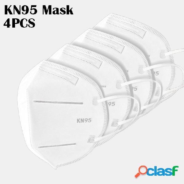 4 pièces / paquet 0f masques kn95 ont réussi le test gb-2626-kn95 pm2.5 masque de protection respiratoire à filtre