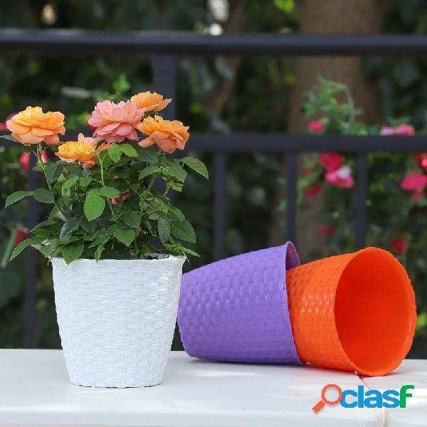 Rotin résine plantes pot jardinage décoration petit pot de fleur