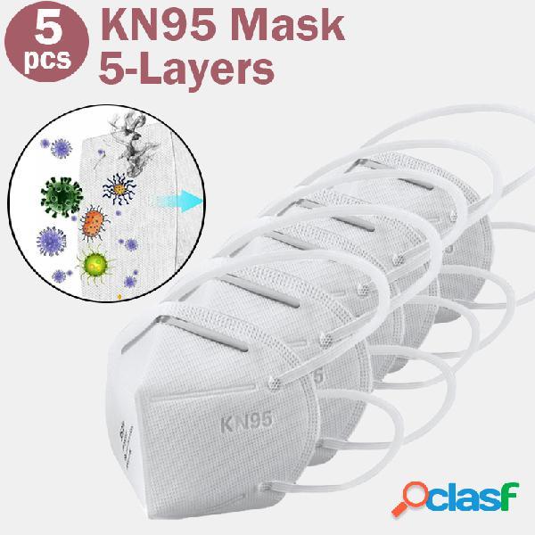 5 pcs / pack masque 0f masques kn95 réussis le masque de filtre gb-2626-kn95 test pm2.5