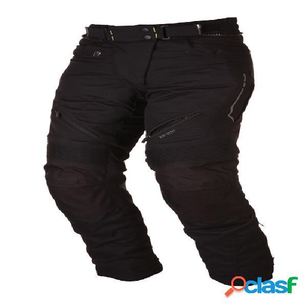 Modeka amber lady pants, pantalon moto en textile femmes, noir longue