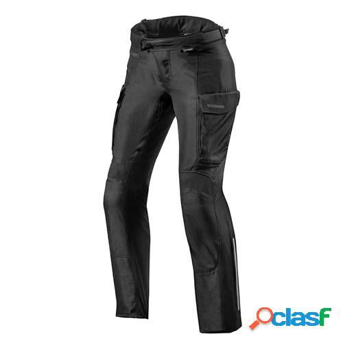 Rev'it! outback 3 pants lady, pantalon moto en textile femmes, noir courtes
