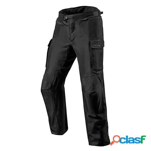 Rev'it! outback 3 pants, pantalon moto en textile hommes, noir courtes