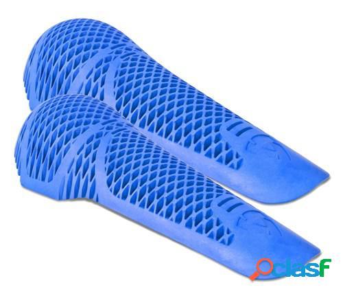 Rev'it! paire de protections genou seeflex rv12, pour vêtements moto, bleu