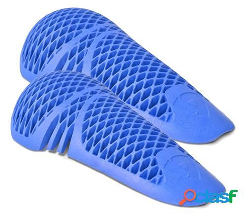 Rev'it! paire de protections genou seeflex rv14, pour vêtements moto, bleu