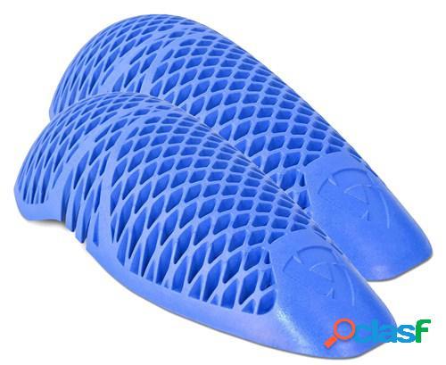 Rev'it! paire de protections genou/coude seeflex rv10, pour vêtements moto, bleu